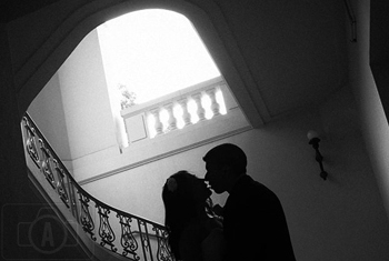 bride and groom silhoutte