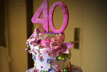 Cake for 40 years old